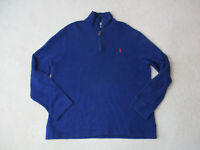 VINTAGE Ralph Lauren Polo Sweater Adult Extra Large Blue Red Pony Mens 90s A18*