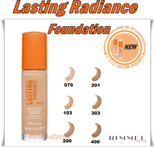 Rimmel LASTING RADIANCE Foundation SPF25 Up to 24H Hydration Anti-Pollution 30ml