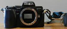 Minolta Maxxum 7000 35mm SLR Camera Body only & Minolta 4000 AF flash & case