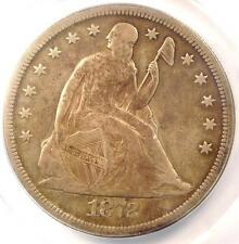 1872-CC Seated Liberty Dollar $1 - ANACS F15 Details - Rare Carson City Coin