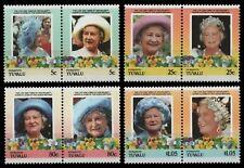Tuvalu - Funafuti 1985 - Mi-Nr. 57-64 ** - MNH - Queen Mum