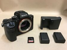 Sony Alpha a7R II 42.4MP Digital Camera - Black (Body Only) + Batteries Charger