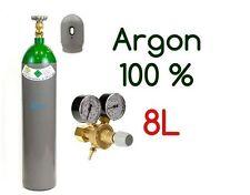 NEW PLEINE BOUTEILLE CYLINDRE DE GAZ ARGON 100% 8 LITRES 200 BAR + REGULATEUR