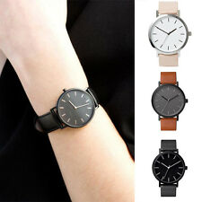 Elegant Minimalist Wrist Watch Unisex Waterproof Watch with Leather Band