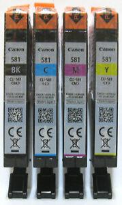 Canon Genuine CLI-581Bk CLI-581C CLI-581M CLI-581Y Set. New / Sealed