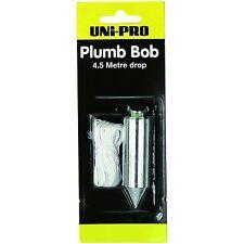 UNi-PRO PLUMB BOB 4.5 Metre Drop, Hangs Wallpaper Accurately *Australian Made