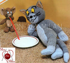 VINTAGE KNITTING PATTERN How To Make TOM and JERRY TOYS Cat & Mouse CARTOON DK