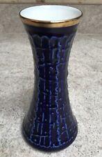 German Royal Porzellan Bavaria KPM Germany Handarbeit Echt Cobalt Vase (Z34)