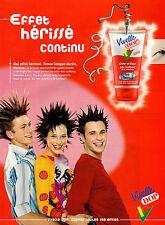 """Publicité Advertising 2003  VIVELLE DOP gel coiffant """"effet hérissé"""""""