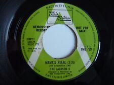"""La Perla de Jackson 5 cinco Mama Reino Unido Demo PROMO 1970 Tamla Motown 7"""" SINGLE VINILO"""