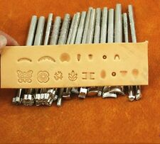 Lot of 16pcs Craft Tools Leather Punches Saddle Stamp LeatherCraft Stamps