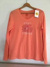 Life Is Good Women's M Keep it simple coral Long Sleeve Shirt