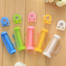 2pcs Plastic Rolling Tube Squeezer Toothpaste Easy Dispenser Bathroom Holder Ly