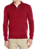 Geoffrey Beene Men's Quarter Zip Drop Needle Pullover Sweater, Assorted Colors