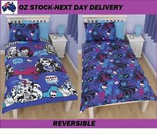 MONSTER HIGH SKULLETTE DOONA QUILT DUVET COVER SET,REVERSIBLE,GENUINE