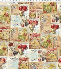 """VINTAGE SEEDPACKETS"" by IRON ORCHID DESIGNS  for CLOTHWORKS   **ONE YARD**"