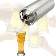 4L Fass Bier Growler Edelstahl nackt Keg Hause brauen Mini Bierfass Flasche Neu