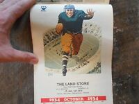 ** Vintage Bonifay Florida The Land Store Real Estate 1979 Calendar Football **