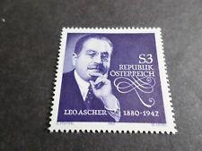 AUTRICHE, 1980, timbre 1480, MUSIQUE, LEO ASCHER, neuf**