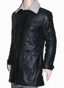 Dark Knight Rises Replica Black Bane Jacket Genuine Cow Leather Trench Coat