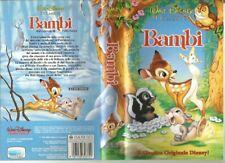 "VIDEOCASSETTA VHS""BAMBI""VS4372-I CLASSICI WALT DISNEY-MAGGIO 1992-"