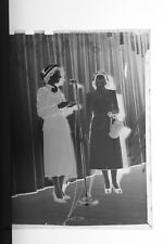 (3) B&W Press Photo Negative Ladies Meeting Group Microphone Speaker -T3200
