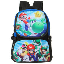 Super Mario School Student Bag Backpack Anime Shoulder Laptop Cartoon Rucksack