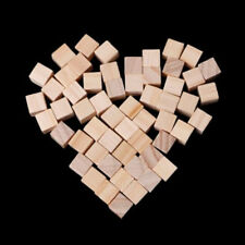 100pcs 25mm Decor Handmade Square Wooden Bead Handcrafts DIY Crafts Cube Blocks
