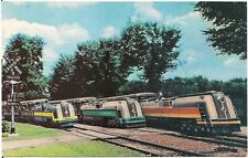 Miniature Streamliner Engines, Detroit Zoological Gardens, Royal Oak MI Postcard
