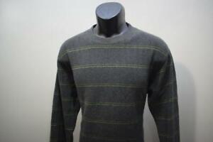Prana Breathe Sweatshirt Sweater 100% Organic Cotton Striped Mens Size Medium