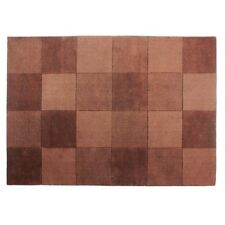 "Flair Rugs Squares Chocolate 100% Wool Rug 100cm (3ft 3"") X 160cm (5ft 3"")"