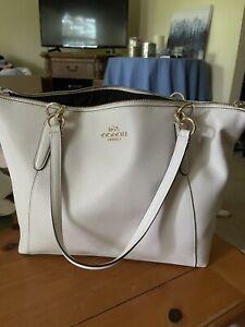 Coach F57526 Crossgrain Ava Zip Tote Handbag Chalk NWT