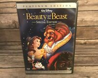 Beauty and the Beast (DVD, 2-Disc Set, Platinum Special Edition) Walt Disney