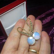 orecchini monachella argento 925 oro placcato pietra di luna naturale zirconi