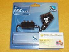CAVO RGB per SONY PLAYSTATION 1 e 2 PS2 NUOVO SCART AV NUOVO NEW FACTORY SEALED