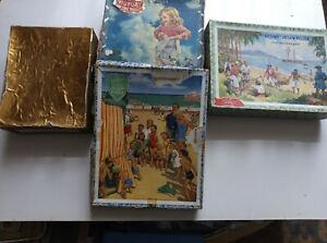 Victory wooden jigsaws job lot - The Treasure Ship,Glad Tidings,Popular Series..