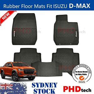 All Weather Rubber FLOOR MATS Fit ALL NEW ISUZU D-MAX DMAX MY21 From AUG 2020