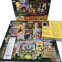 The Simpsons Clue Board Game 2nd Edition 2002 Parker Brothers 100% Complete