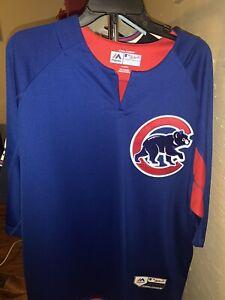 Majestic Chicago Cubs Bp Shirt Jacket XL