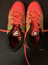 Nike Girls Soccer Shoes Size 2.5 Neon Green & Orange Cleats Sneakers