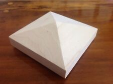 "3 New Poplar Pyramid Newel Post Cap 4 3/4'' X 4 3/4"" Square"