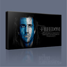 BRAVEHEART AWESOME WILLIAM WALLACE ICONIC FREEDOM CANVAS ART PRINT Art Williams