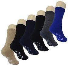 Slipper Socks w/ Grippers for Men - 6 Packs