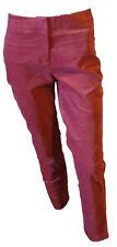 Pantalone Elegante Vita Media Gamba Sretta Velluto Leggero Donna Mattone 42 W28