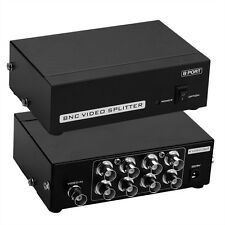 8-Port BNC Coax Composite Video Splitter Verteilungsverstärker CCTV DVR