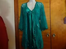 DREAM GIRL TEAL 2 PC. NIGHTY SLEEPWEAR SIZE 1X / 2X FITS LIKE L/XL NEW WITH TAGS