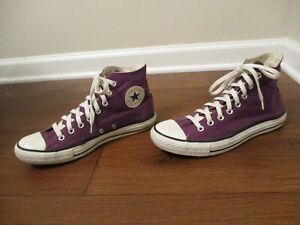 Used Men's Sz 8.5 Fit Like 9-9.5 Converse Chuck Taylor All Star Hi Shoes Purple