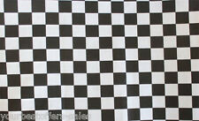 Black and White Fabric By The Yard Checkered Fabric Poly Cotton Fabric Brand New