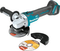 "Makita XAG04Z 18V LXT® Brushless Cordless 4‑1/2"" / 5"" Cut‑Off/Angle Grinder, Too"