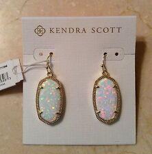 NWT Kendra Scott 'Dani' Drop Earrings in White Kyocera Opal~Stunning~$130~LOOK!!